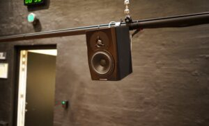 """The speakers in the dome are Dynaudio LYD 5 with 5"""" woofers and 1"""" tweeters"""